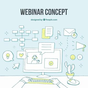 Modern webinar-concept