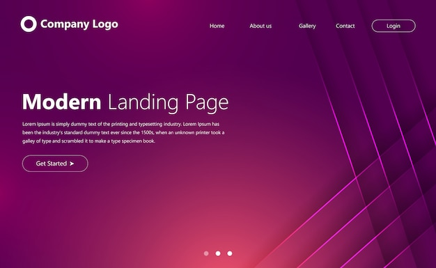 Modern website-bestemmingspagina-ontwerp