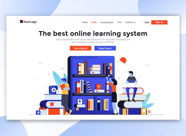 Modern website sjabloon - online onderwijs