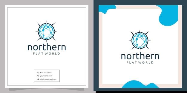 Modern wereld noord wereldwijd logo-ontwerp
