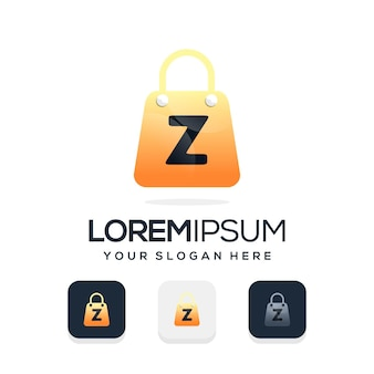 Modern winkellogo met letter z-logosjabloon