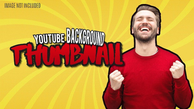 Modern youtube-miniatuurontwerp met geweldige tekstsjabloon