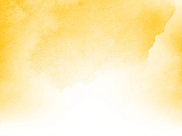 Modern zacht geel waterverfontwerp als achtergrond