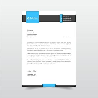 Modern zakelijk briefpapier en professionele factuurontwerpsjabloon