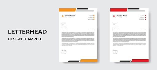 Modern zakelijk briefpapier sjabloonontwerp in vectorformaat