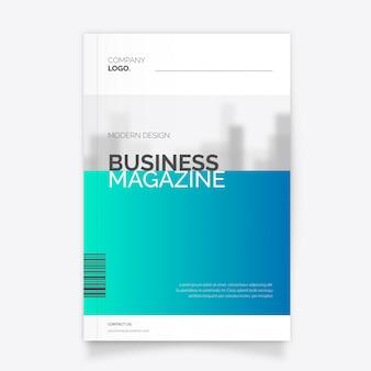 Modern zakelijk tijdschriftmalplaatje