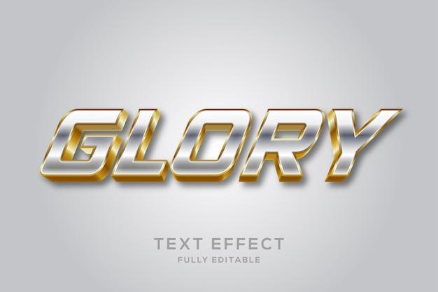 Modern zilver en goud 3d teksteffect