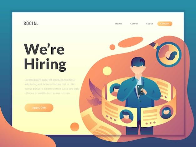 Modern zoeken naar een baan voor een werknemer