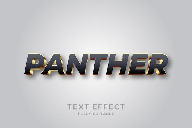 Modern zwart en goud 3d-teksteffect