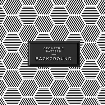 Modern zwart-wit geometrisch naadloos patroon achtergrond deco