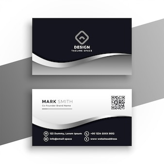 Modern zwart-wit visitekaartje