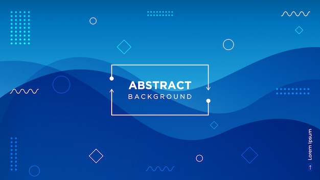 Moderne 3d blauwe achtergrond met vloeibare vormen