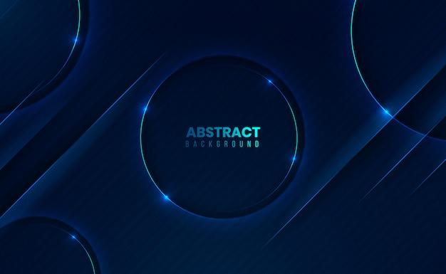 Moderne 3d donkere abstracte schone achtergrond Premium Vector
