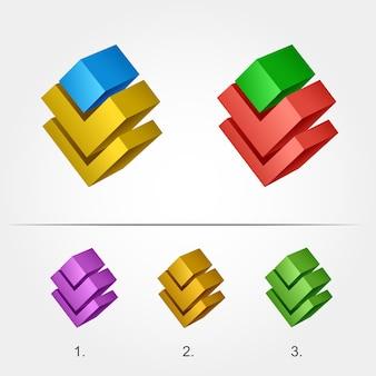 Moderne 3d-logo sjabloon