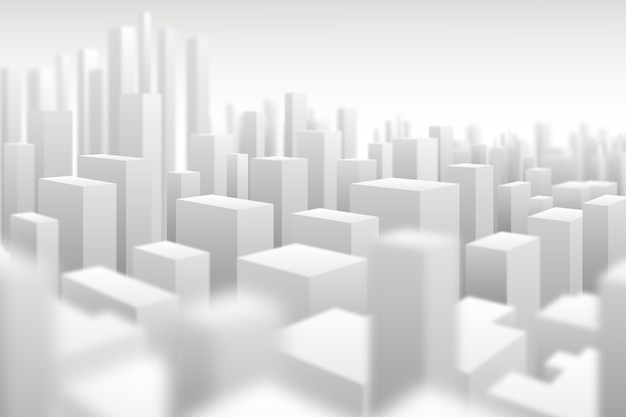 Moderne 3d stadsachtergrond