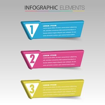 Moderne 3d-tekstvaksjabloon, banner infographics