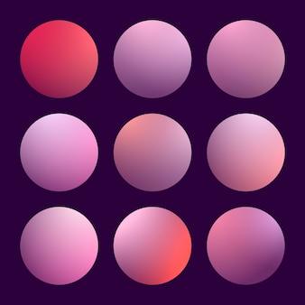 Moderne 3d-verloop ingesteld met ronde samenvatting
