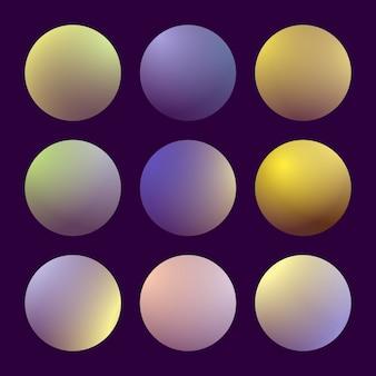Moderne 3d-verloopset met ronde abstracte achtergronden. kleurrijke vloeibare covers voor kalender, brochure, uitnodiging, kaarten. trendy zachte kleur. sjabloon met ronde verloopset voor schermen en mobiele app