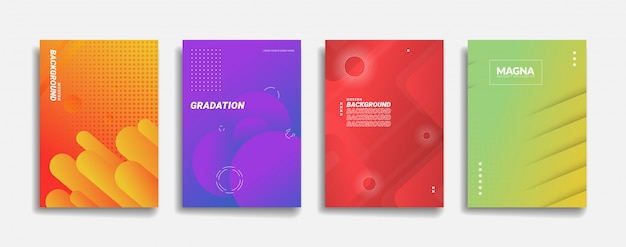 Moderne abstracte achtergrond. eenvoudig dynamisch vormontwerp. minimale paarse neon kleur abstracte verloop sjabloon voor spandoek. rood geel groen blauw oranje achtergrond cover