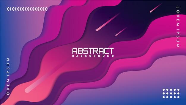 Moderne abstracte achtergrond in papier ambachtelijke stijl, met kleurverloop