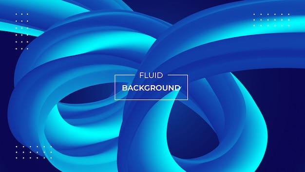 Moderne abstracte achtergrond met 3d vloeibare vormen