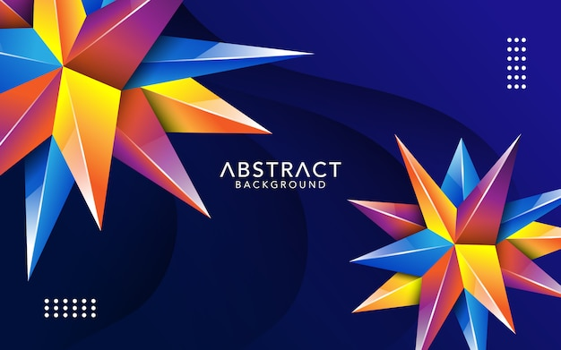 Moderne abstracte achtergrond met 3d-vormeneffect