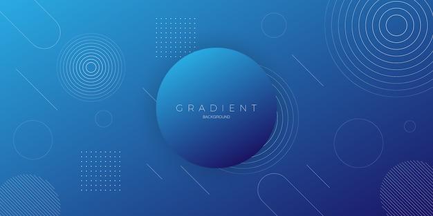 Moderne abstracte achtergrond met donkerblauwe kleurgradatie met cirkelelementen
