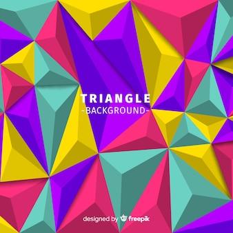 Moderne abstracte achtergrond met driehoeken
