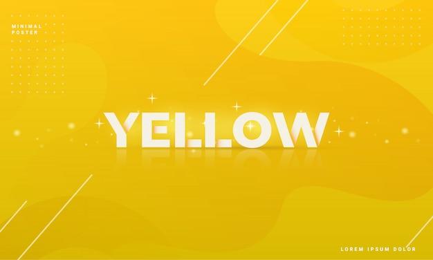 Moderne abstracte achtergrond met een geel concept
