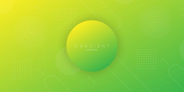 Moderne abstracte achtergrond met een gradatie van groen en geel met cirkel