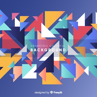 Moderne abstracte achtergrond met geometrische vormen