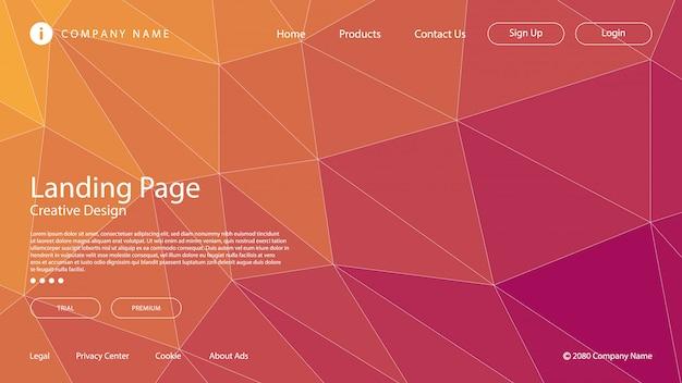 Moderne abstracte achtergrond met gradiëntkleuren die de elementen van het driehoeksmozaïek gebruiken.