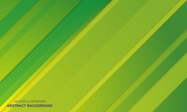 Moderne abstracte achtergrond met groene en gele kleur