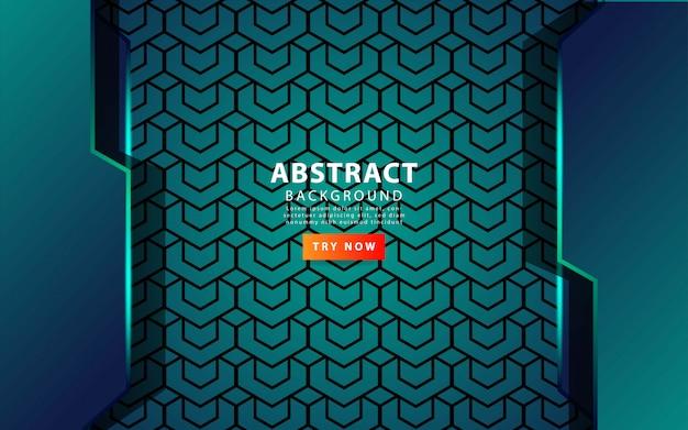 Moderne abstracte achtergrond met groene lijn