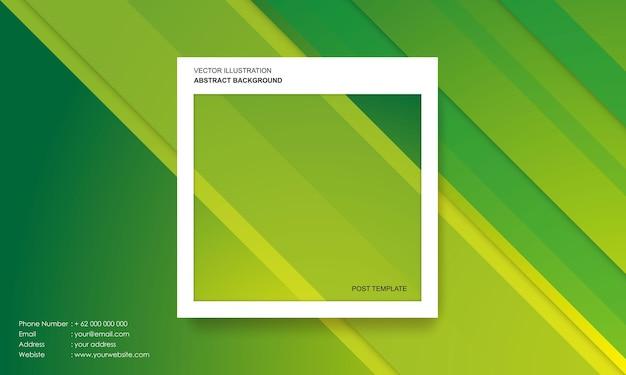 Moderne abstracte achtergrond met kleurrijke verlopen post sjabloon concept