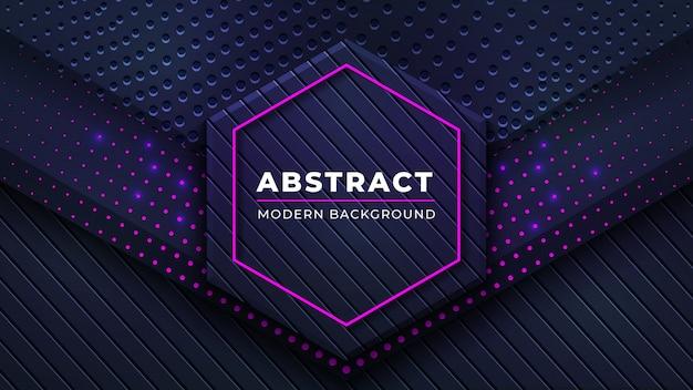 Moderne abstracte achtergrond met lijnen van combinatie de gloeiende roze punten