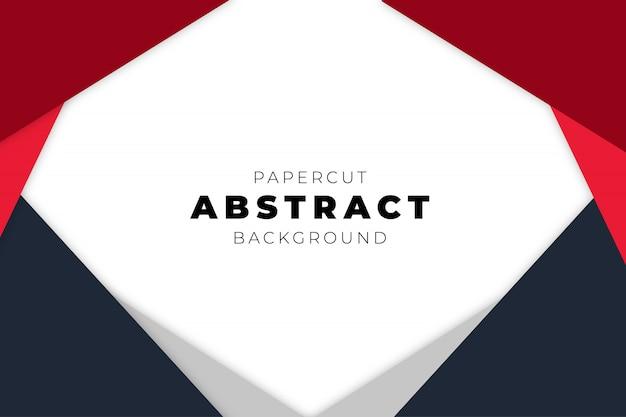 Moderne abstracte achtergrond met papercut-vormen