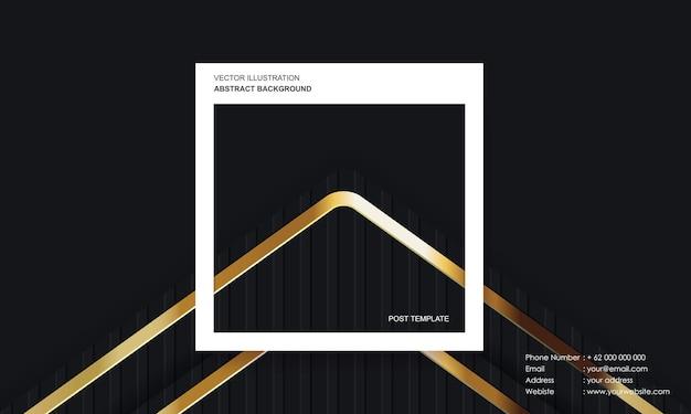 Moderne abstracte achtergrond met postsjabloon zwart luxe kleurconcept