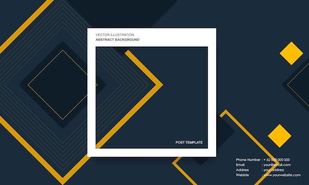 Moderne abstracte achtergrond met postsjabloonconcept