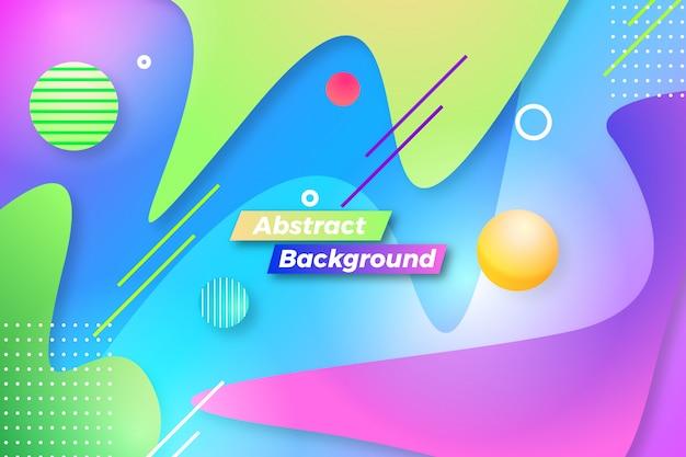 Moderne abstracte achtergrond met verschillende creatieve vormen en lijnen sjabloon