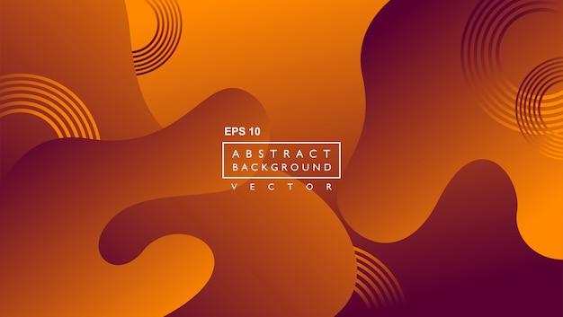 Moderne abstracte achtergrond sjabloon. samenstelling van vloeibare vormen. koperkleur