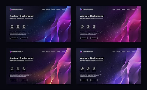 Moderne abstracte achtergrond verloop galaxy space color landing page