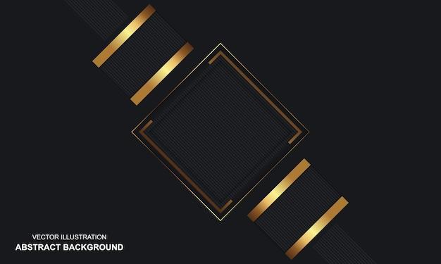 Moderne abstracte achtergrond zwarte en gouden luxe