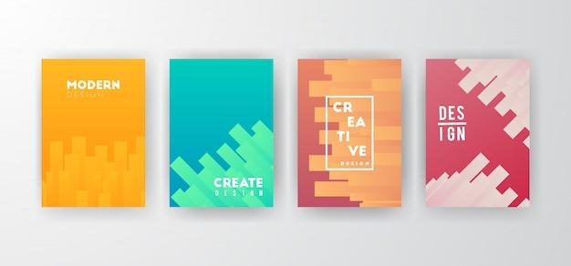 Moderne abstracte achtergronden instellen