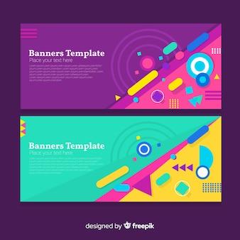 Moderne abstracte banners met platte ontwerp