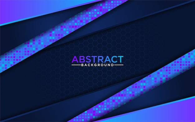 Moderne abstracte blauwe technologie met donkerblauwe achtergrond