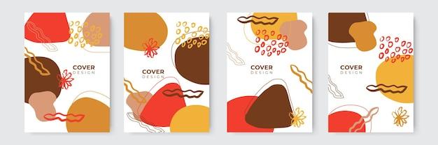 Moderne abstracte covers set, minimaal covers ontwerp. kleurrijke geometrische achtergrond, vectorillustratie.