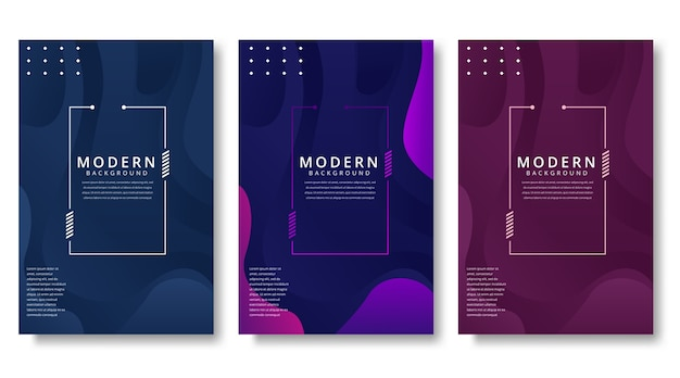 Moderne abstracte covers set
