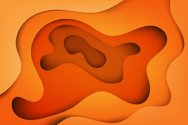 Moderne abstracte dekking, kleurrijke golf en vloeibare vormen oranje achtergrond