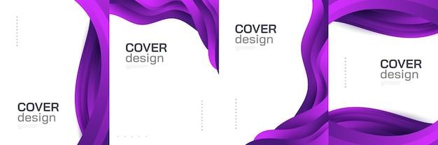 Moderne abstracte dekking ontwerpsjabloon met kleurrijke vloeistof en vloeibare vormen. vloeibaar achtergrondontwerp voor voorpagina, brochure, banner, omslag, boekje, print, flyer, boek, kaart of reclame